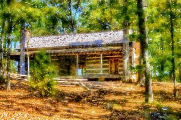 Digital Art - Red Top Cabin by Daniel Eskridge