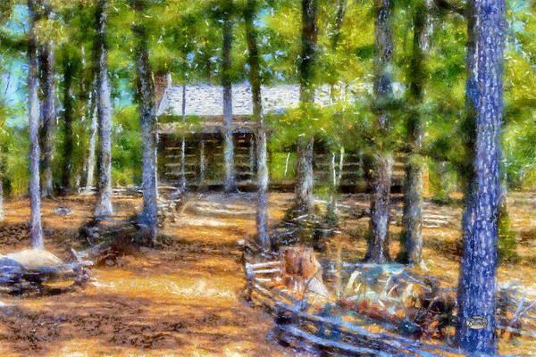 Digital Art - Red Top Homestead by Daniel Eskridge