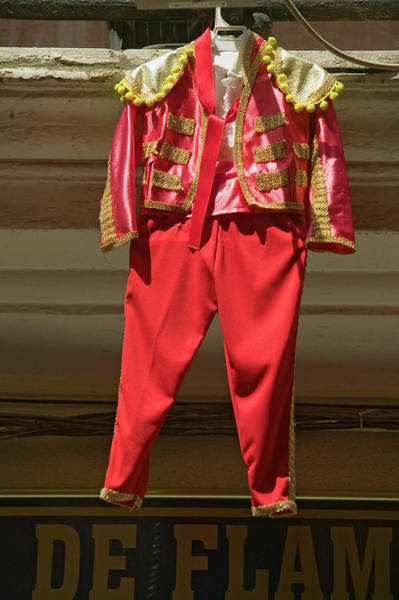 Dress Form Photograph - Red Toreador Bull Fighting Outfit by Panoramic Images