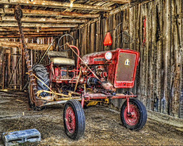 Wall Art - Photograph - Red Tractor by Steve Hurt