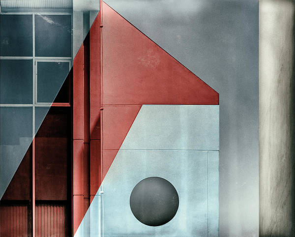 Facade Photograph - Red Transparency. by Harry Verschelden