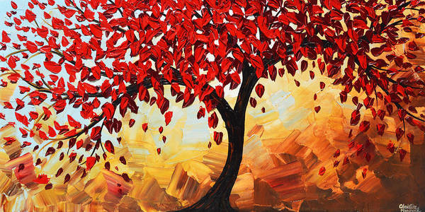 Wall Art - Painting - Red Tree Of Life by Christine Bell