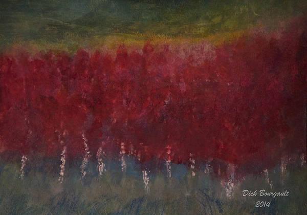 Red Trees Watercolor Art Print