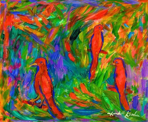 Painting - Red Trio by Kendall Kessler