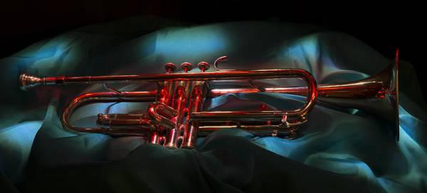 Blye Photograph - Red Trumpet by Kenneth Blye