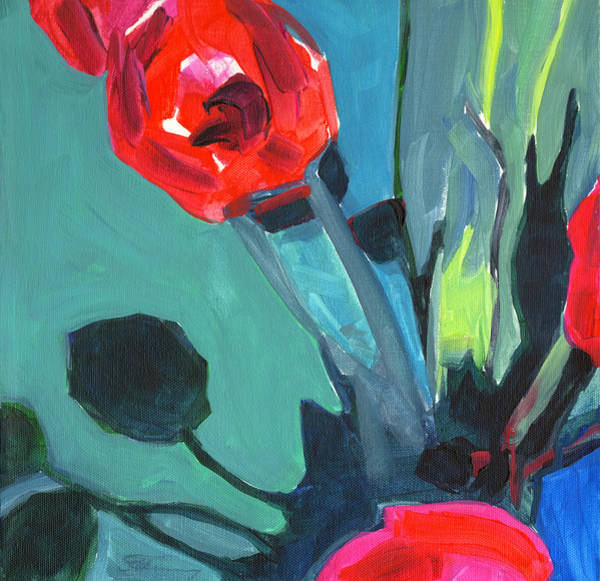 Painting - Red Tulips Abstract by Tanya Filichkin