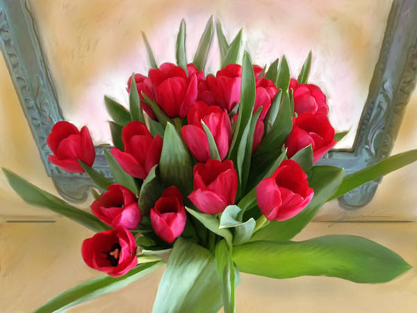 Photograph - Red Tulips by Jean Pacheco Ravinski