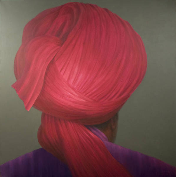 Headdress Photograph - Red Turban, Purple Coat by Lincoln Seligman