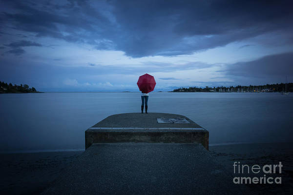 Photograph - Red Umbrella by Carrie Cole