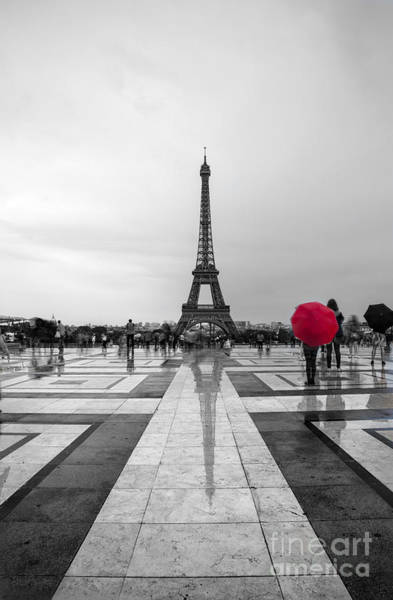 Photograph - Red Umbrella by Timothy Johnson