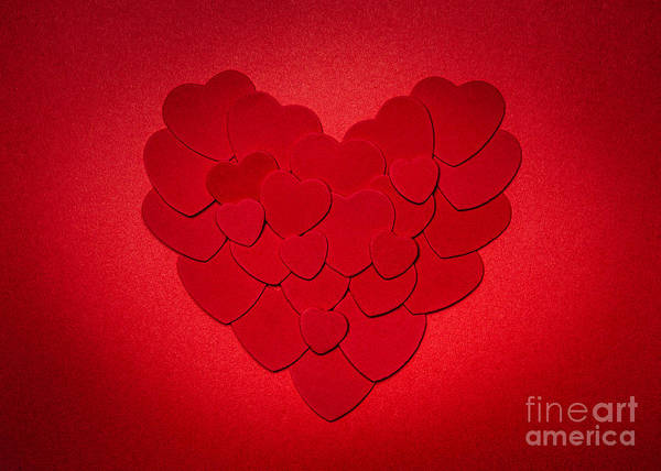 Photograph - Red Valentines Day Heart by Elena Elisseeva