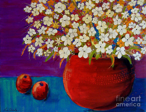 Painting - Red Vase With Flowers by Lee Owenby