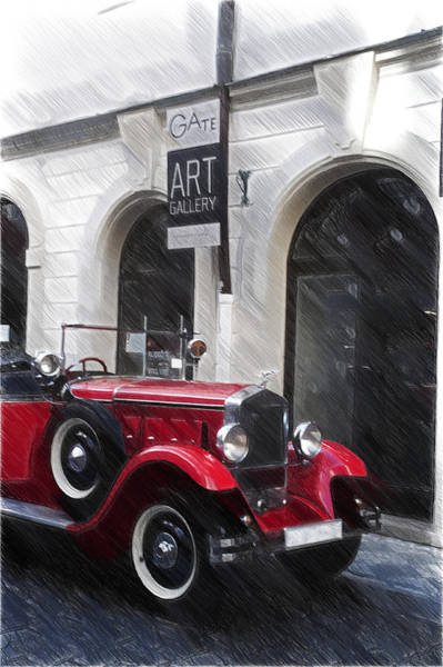 Top Gear Wall Art - Photograph - Red Vintage Car by Jenny Rainbow