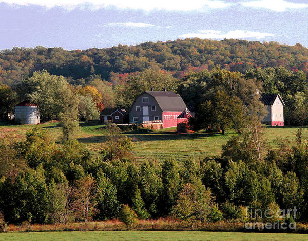 Photograph - Red Waterford Barn by Larry Oskin