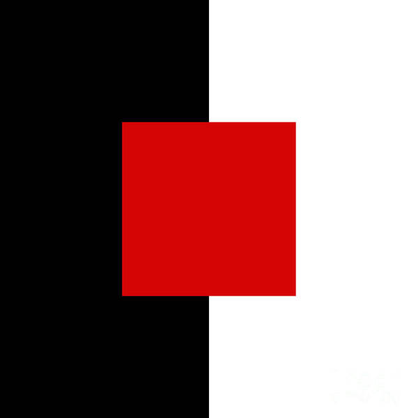 Digital Art - Red White And Black 10 Square  by Andee Design