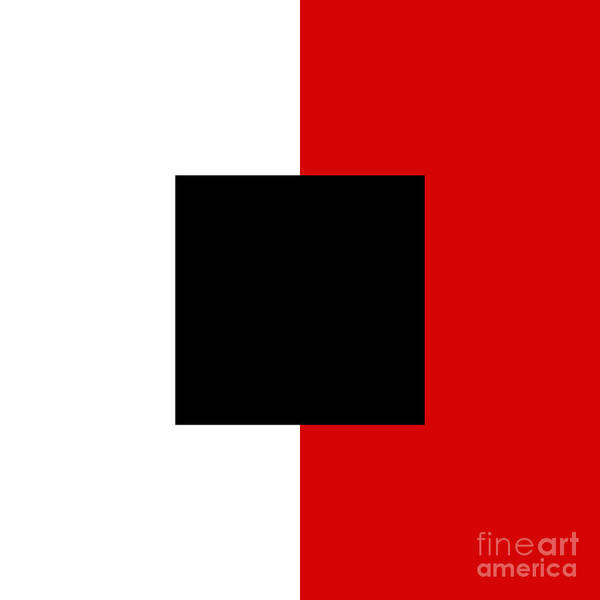Digital Art - Red White And Black 11 Square  by Andee Design