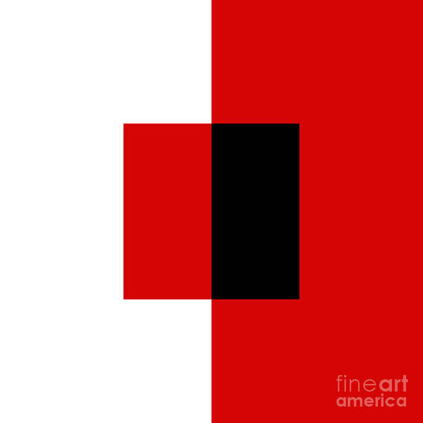 Digital Art - Red White And Black 12 Square  by Andee Design
