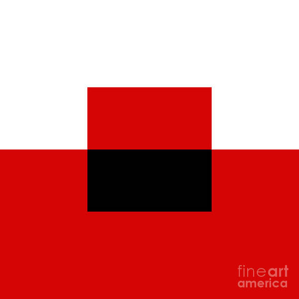Digital Art - Red White And Black 13 Square  by Andee Design