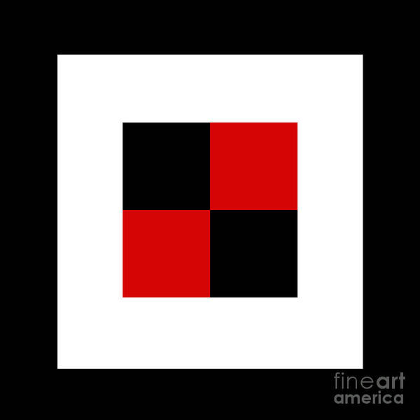 Digital Art - Red White And Black 17 Square  by Andee Design