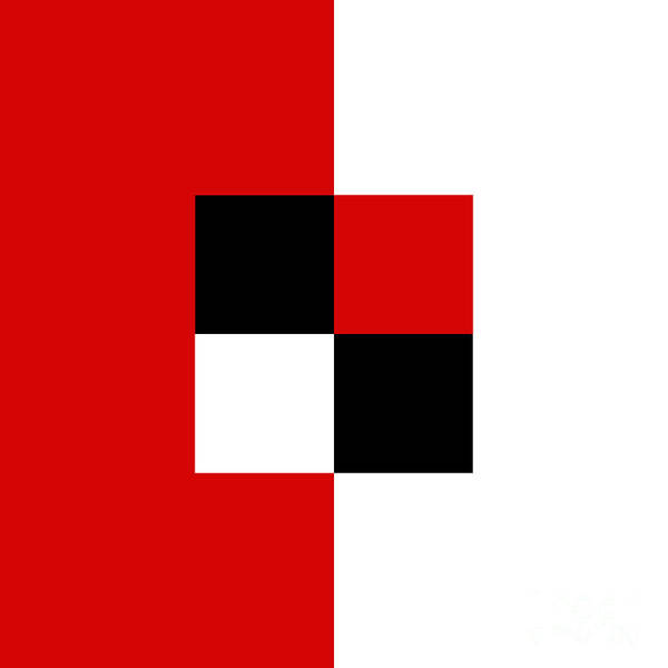 Digital Art - Red White And Black 2 Square by Andee Design