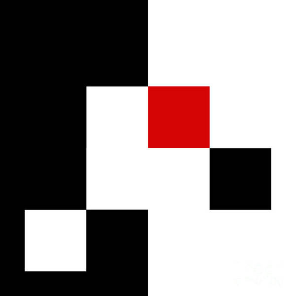 Digital Art - Red White And Black 5 Square by Andee Design