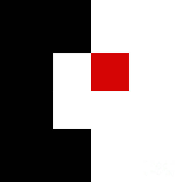 Digital Art - Red White And Black 6 Square by Andee Design