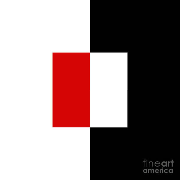 Digital Art - Red White And Black 7 Square by Andee Design