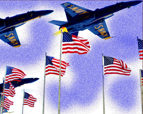Red White And Blue Angels Art Print by Frank Savarese