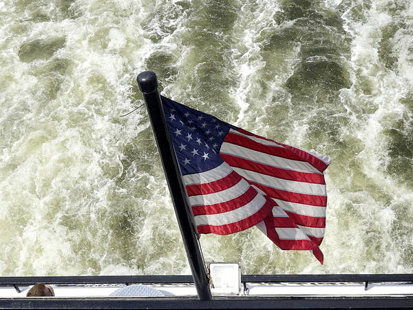 Norfolk Naval Station Wall Art - Photograph - Red White And Blue Flying Proudly by Richard Rosenshein