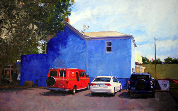 Wall Art - Painting - Red White And Blue Hoo Van by Edward Thomas