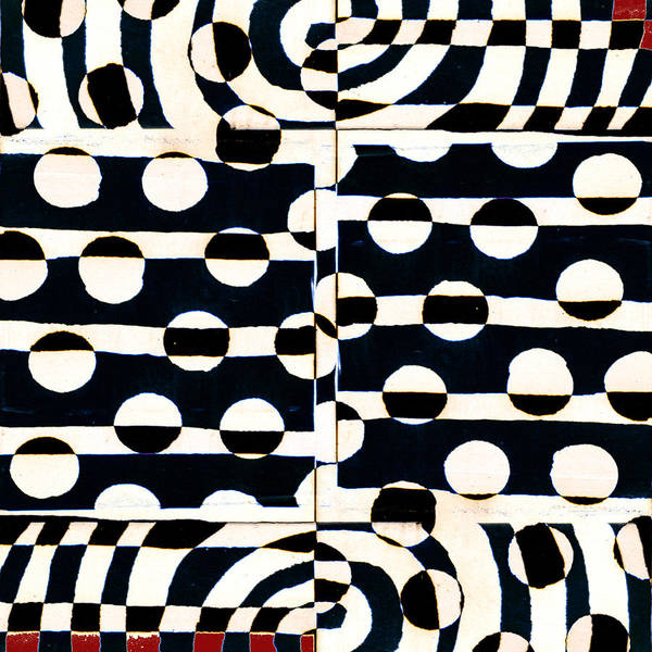 Optical Photograph - Red White Black Number 3 by Carol Leigh