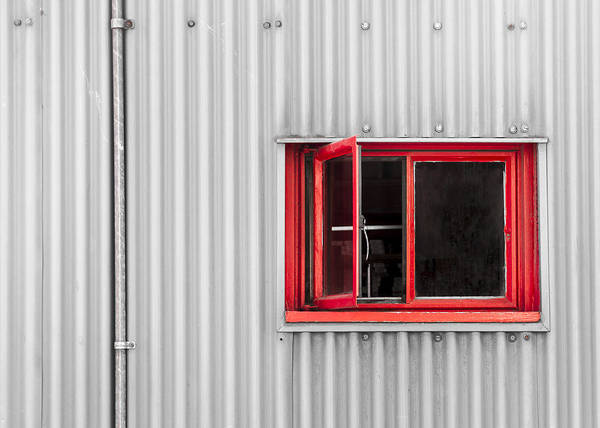 Wood Siding Wall Art - Photograph - Red Window by Andrew Campbell