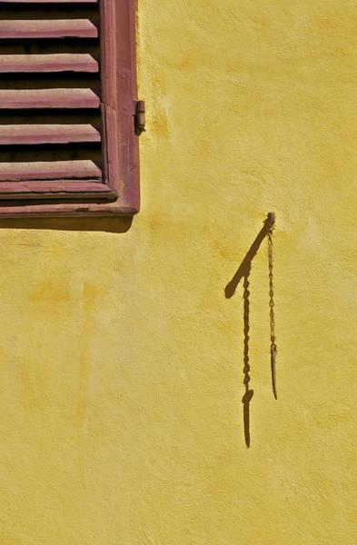 Red Window Shutter Of Tuscany Art Print