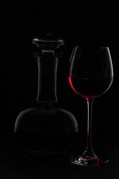 Bottles Photograph - Red Wine by Rainer Czerwonka