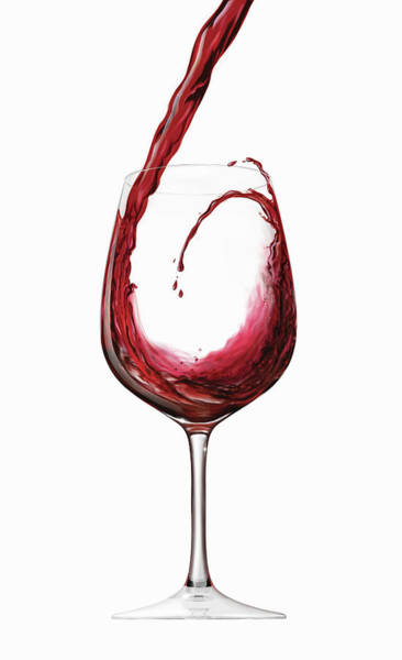 Pouring Digital Art - Red Wine Splashing And Swirling Into by Dave Higginson