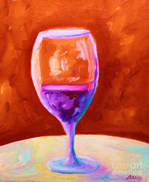 Vino Painting - Red Wine by Todd Bandy