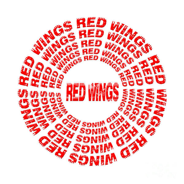 Digital Art - Red Wings 1 by Andee Design