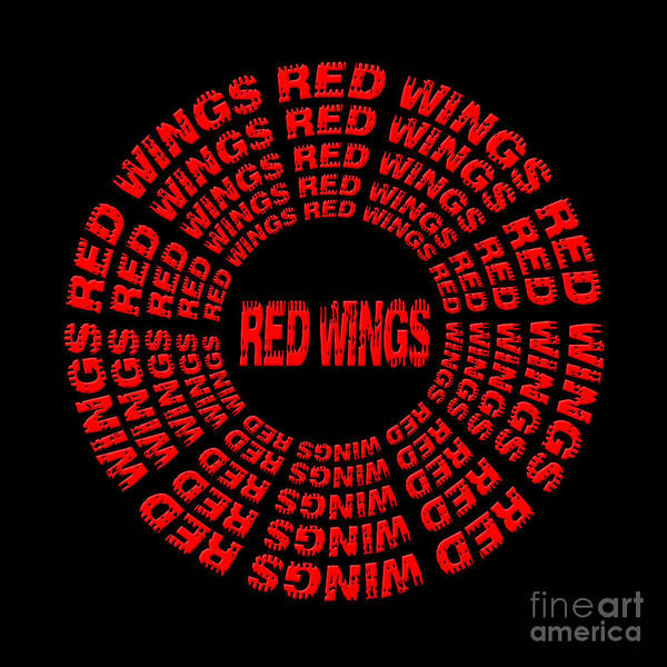 Digital Art - Red Wings 3 by Andee Design