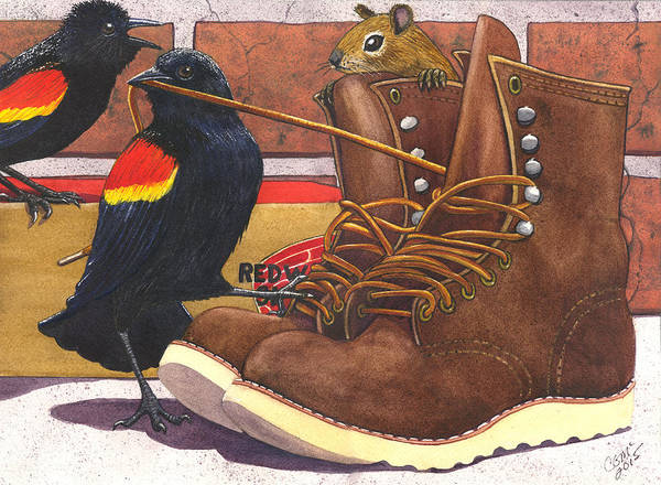 Painting - Red Wings by Catherine G McElroy