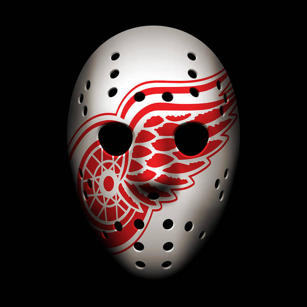 Wall Art - Photograph - Red Wings Goalie Mask by Joe Hamilton