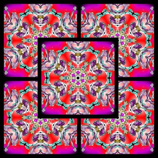 Digital Art - Red Winter Solstice Page by Derek Gedney