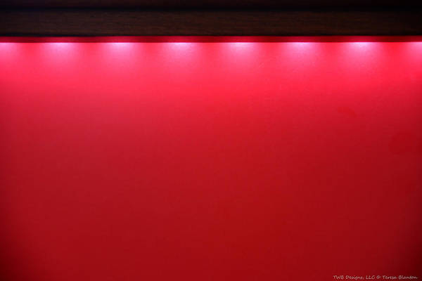 Photograph - Red With Lights by Teresa Blanton