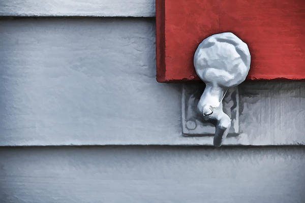Photograph - Red Wood Window Shutter IIi by David Letts