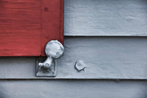 Photograph - Red Wood Window Shutter V by David Letts