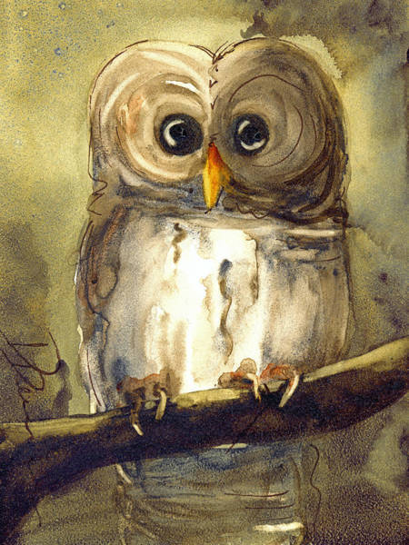Painting - Redbird Cottage Owl by Dawn Derman