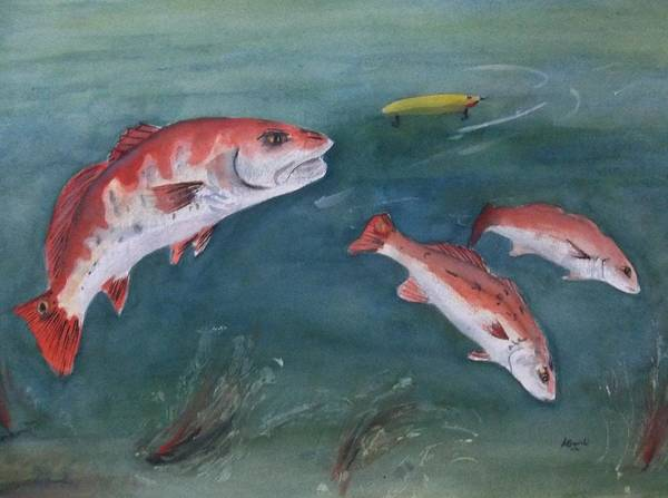 Painting - Redfish by Audrey Bunchkowski