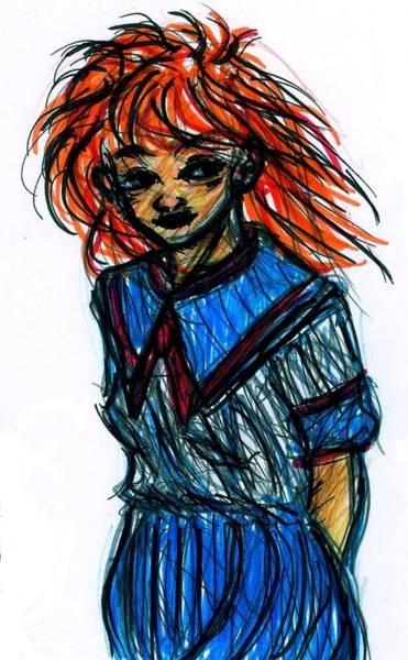Drawing - Redhead II by Rachel Scott