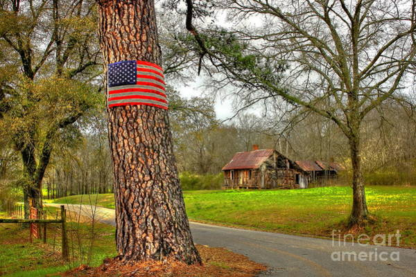 Photograph - American Flag On The Redneck Flag Pole by Reid Callaway