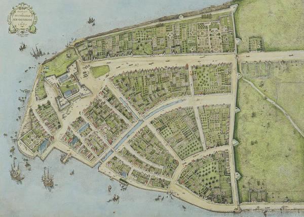 South Island Drawing - Redraft Of The Castello Plan by John Wolcott Adams