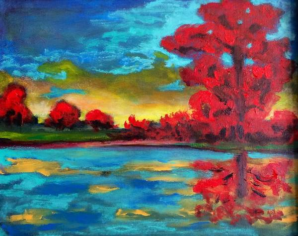 Painting - Red's Paradise by Dilip Sheth